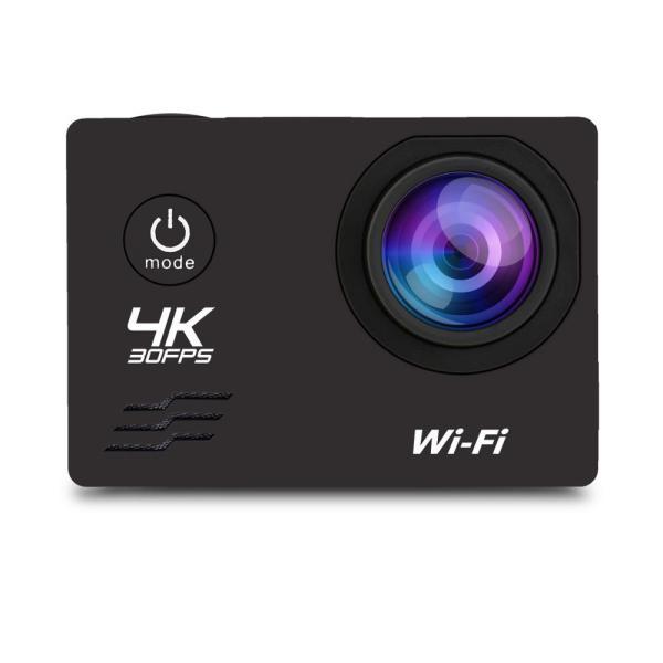 アクションカメラ 2インチ WIFI機能搭載 1080P フルHD 170度広角 30M防水 ドライブレコーダーモードあり ブラック tk1234 02
