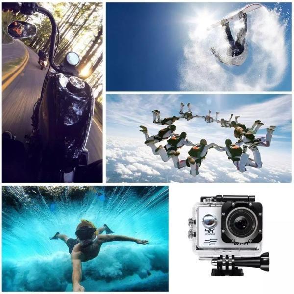 アクションカメラ 2インチ WIFI機能搭載 1080P フルHD 170度広角 30M防水 ドライブレコーダーモードあり ブラック tk1234 05