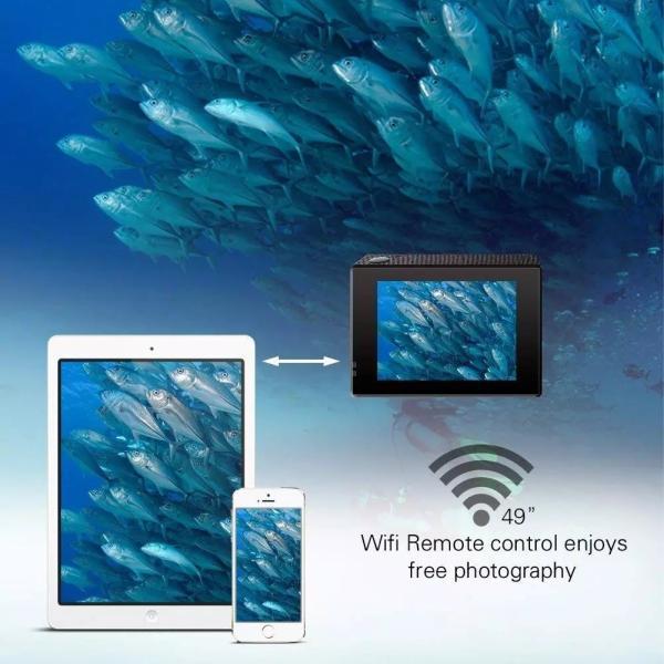 アクションカメラ 2インチ WIFI機能搭載 1080P フルHD 170度広角 30M防水 ドライブレコーダーモードあり ブラック tk1234 06
