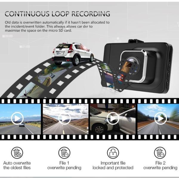 ドライブレコーダー 1200万画素 フルHD 広角170度 高画質 1080P  上書き録画 Gセンサー tk1234 06