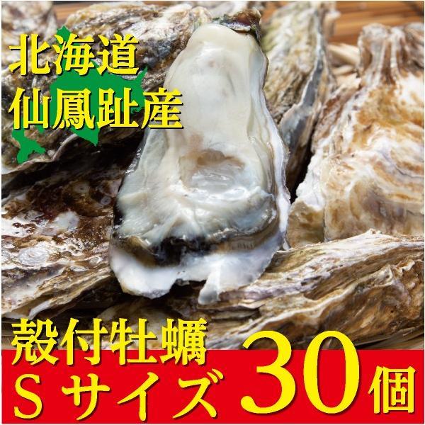 北海道仙鳳趾(せんぽうし)殻付牡蠣 Sサイズ(90g〜149g) 30個入り|tkhs946