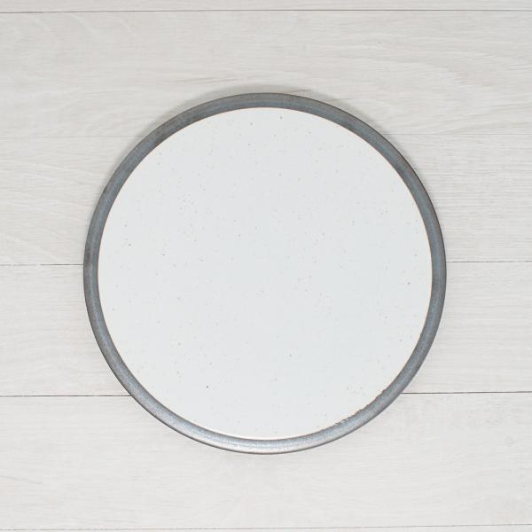 TLP LINE 25cm FLAT PLATE フラットプレート皿 唐津色 白ホワイト tlp