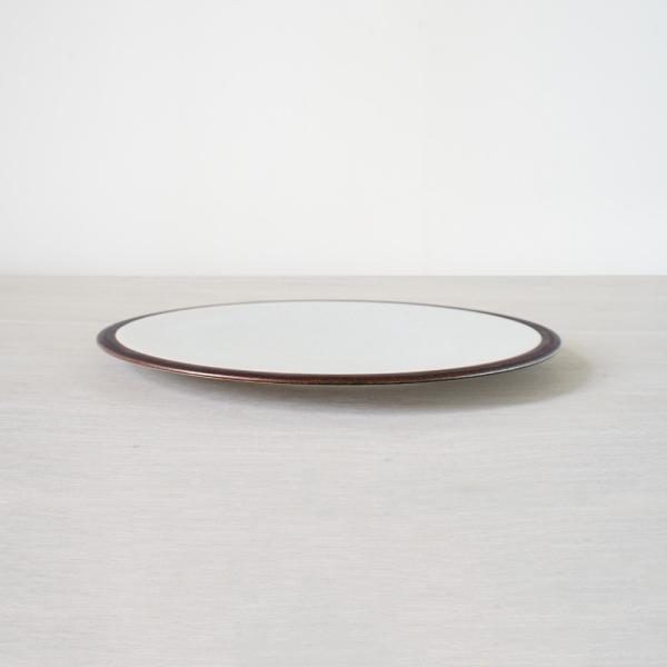 TLP LINE 25cm FLAT PLATE フラットプレート皿 唐津色 白ホワイト tlp 02