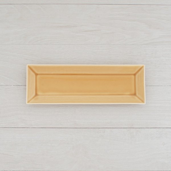 TLP BORDER 27x9cm RECTANGLER PLATE 長角皿 黄瀬戸 黄イエロー|tlp