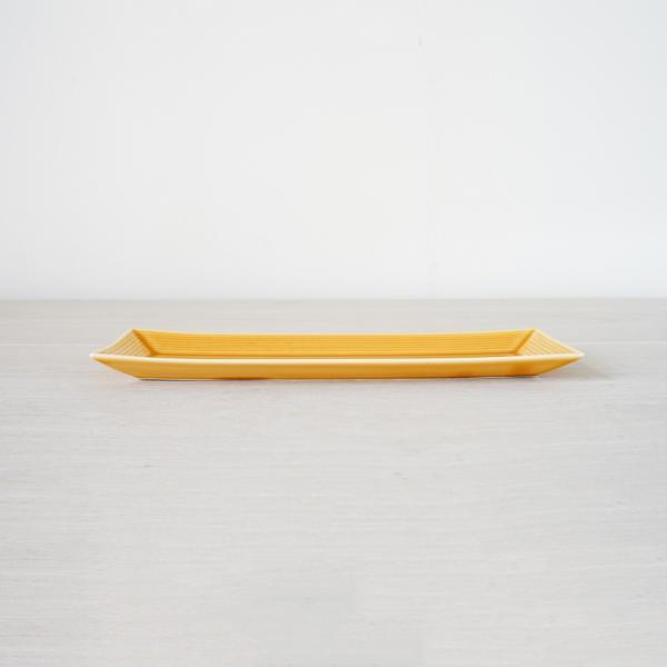 TLP BORDER 27x9cm RECTANGLER PLATE 長角皿 黄瀬戸 黄イエロー|tlp|02