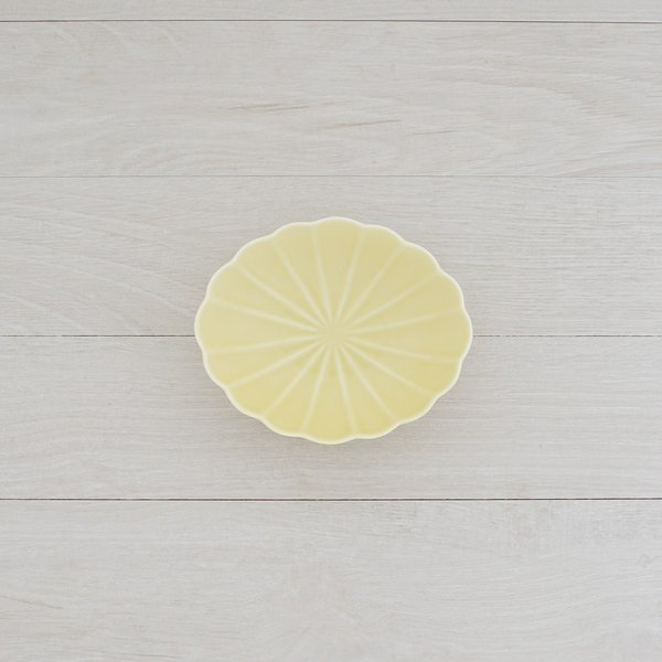 TLP KIKU 16cm OVAL BOWL オーバルボウル菊皿 黄イエロー|tlp