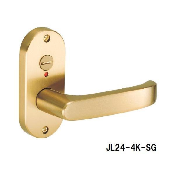 ドアノブ ハンドル交換 GIKEN 川口技研 JレバーJL24-4K-SG サテンゴールド 表示付 バックセット35mm、50mm、60mm