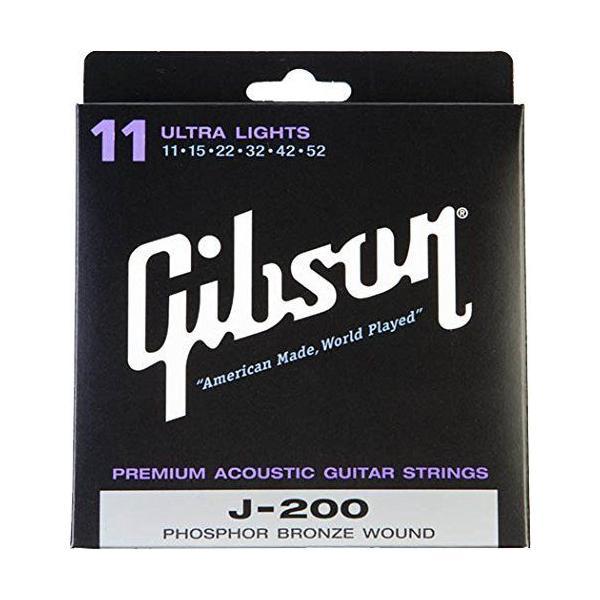 Gibsonギブソンアコースティックギター弦J-200DeluxePhosphorBronzeAcousticGuitar