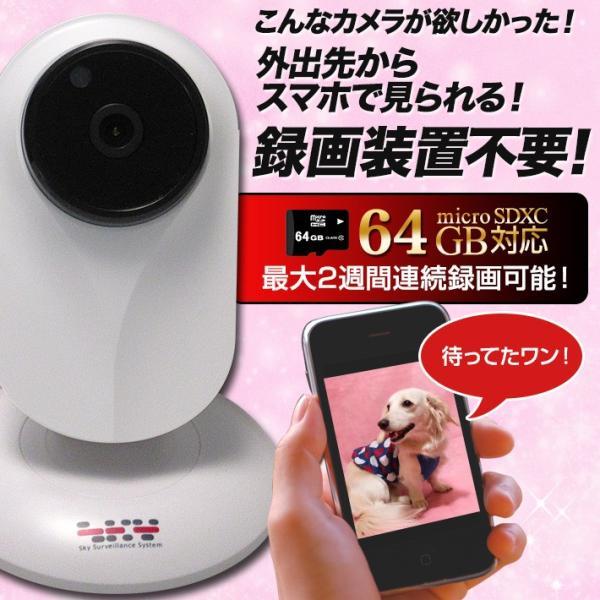 200万画素 無線 Wi-Fi IPキューブカメラ ACIP17 ネットワークカメラ ( 暗視 人感センサー 双方向音声通信 )|tmts|03