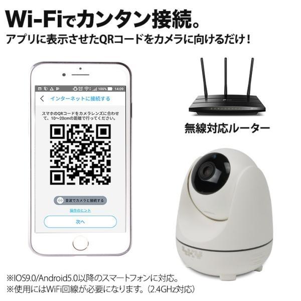 屋内スイングカメラ 自動追尾機能 200万画素 ネットワークカメラ 無線 Wi-Fi IP ワイヤレス 暗視 動き検知 双方向音声通信 tmts 08