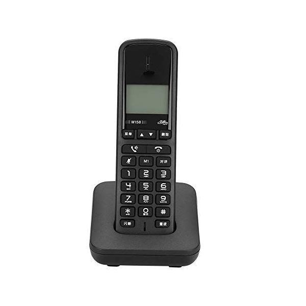固定電話機ハンズフリー音量調節 ノイズキャンセルデスク有線電話機ホームオフィスホテル用(ブラック)