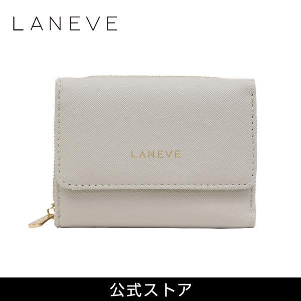 LANEVE ランイブ レディース  3つ折り財布 L56802 GJ (グレージュ) (169013)|tn-square