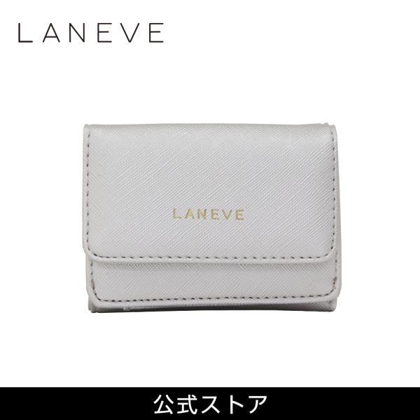 LANEVE ランイブ レディース  ミニ財布 L56803 SV シルバー 銀 (169019)|tn-square