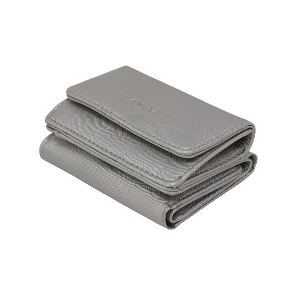 LANEVE ランイブ レディース  ミニ財布 L56803 SV シルバー 銀 (169019)|tn-square|03