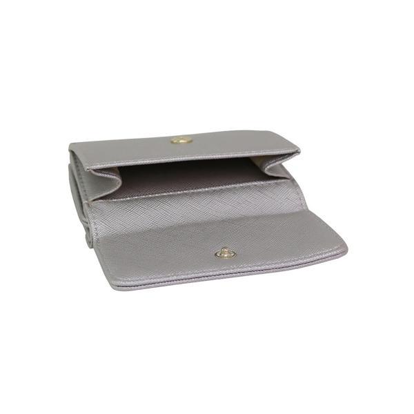 LANEVE ランイブ レディース  ミニ財布 L56803 SV シルバー 銀 (169019)|tn-square|04