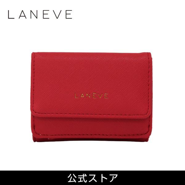 LANEVE ランイブ レディース  ミニ財布 L56803 RD レッド 赤 (169022)|tn-square