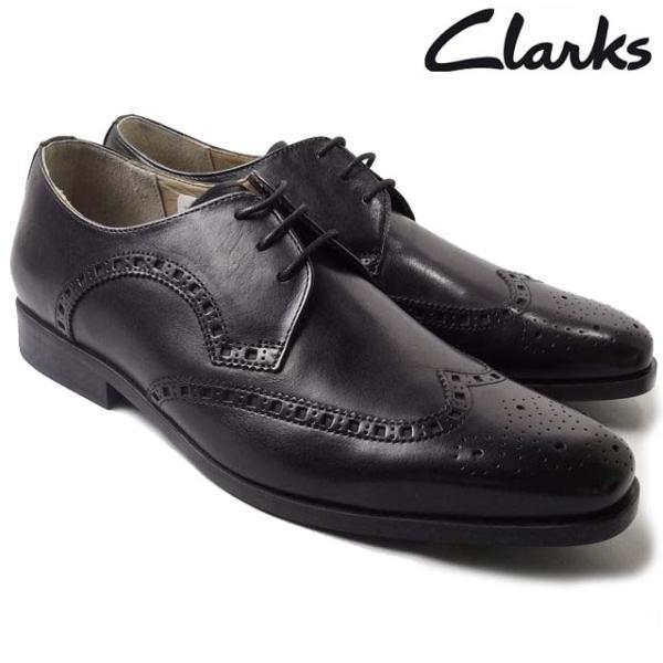 Clarks 500E ブラック クラークス 本革ビジネスシューズ