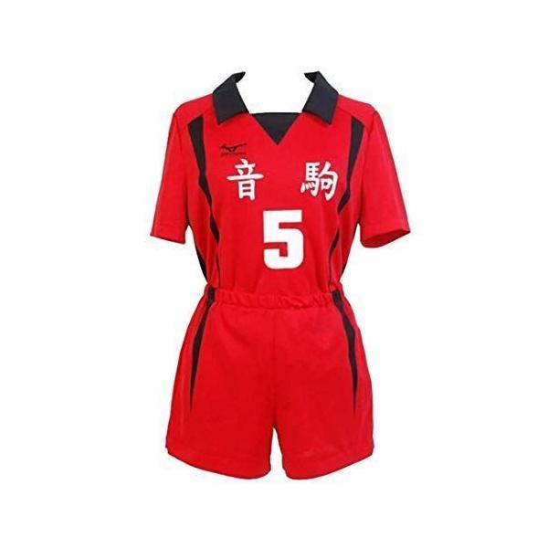 ハイキューコスプレユニフォーム衣装音駒高校排球部ジャージ2点セット孤爪研磨(こづめけんま)5号tシャツショーツスポー