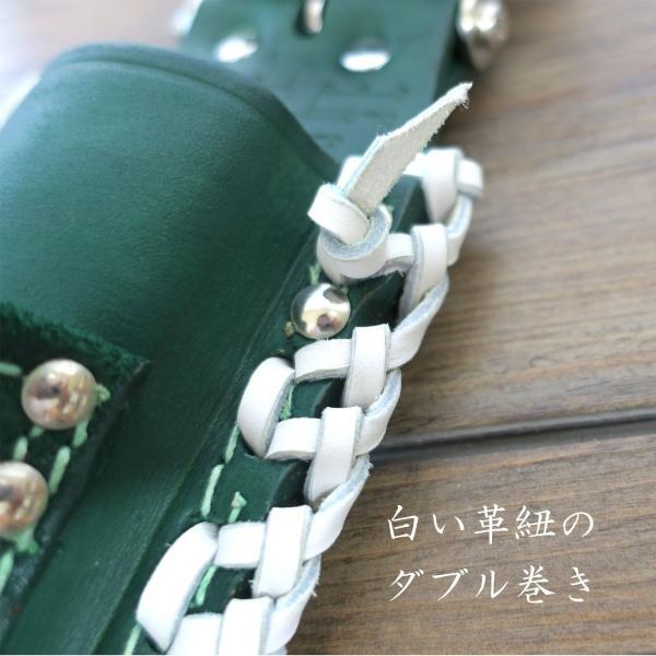 ニックス グリーン×ホワイト モンキーラチェットホルダー特注|tobiwarabiueda|02