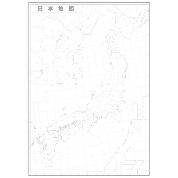日本白地図
