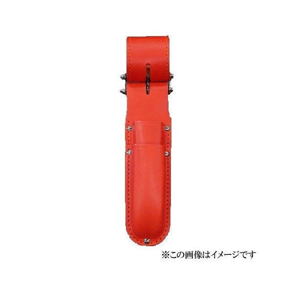 【代引き不可】KNICKS(ニックス) KR-112DX チェーン式電工ナイフ・カッター2段ホルダー レッド (ペンチ差し 工具袋 ツールホルダー)