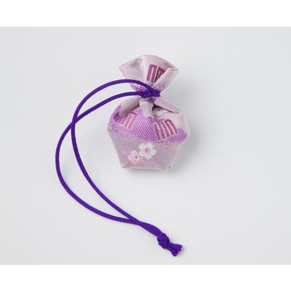 負野薫玉堂 匂い袋 きんちゃく うつりか 香紗(藤紫) 巾着|togetsukyo