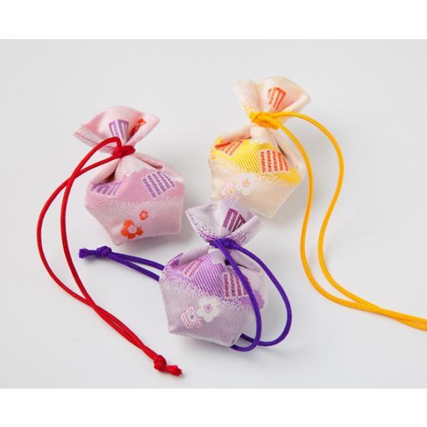 負野薫玉堂 匂い袋 きんちゃく うつりか 香紗(藤紫) 巾着|togetsukyo|02