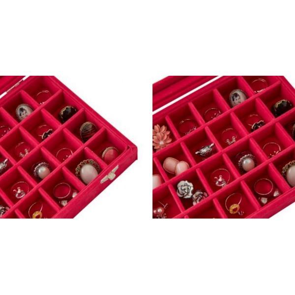 アクセサリーケース  24個 収納 ケースコレクション ボックス  アクセサリーボックス  ジュエリーボックス アクセサリー ジュエリー|tohomart|11
