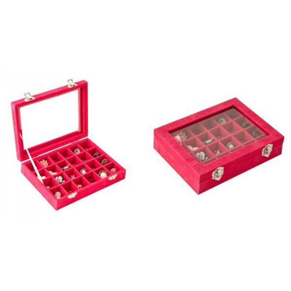 アクセサリーケース  24個 収納 ケースコレクション ボックス  アクセサリーボックス  ジュエリーボックス アクセサリー ジュエリー|tohomart|10