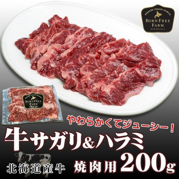 北海道産牛 牛肉 焼肉 国産牛 特選牛サガリ(ハラミ)焼肉用200g [焼肉用] バーベキュー 北海道 十勝スロウフード