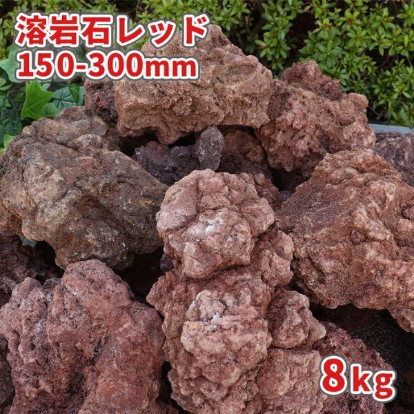 溶岩石 レッド 150-300mm 10kg / 送料無料
