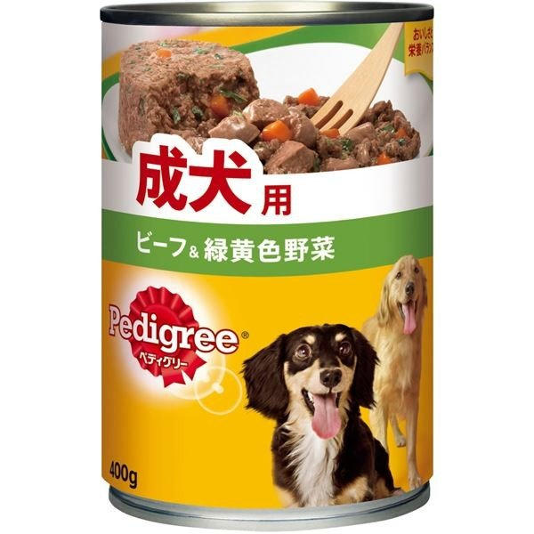 <title>ペディグリー 全店販売中 成犬用 ビーフ 緑黄色野菜 400g</title>