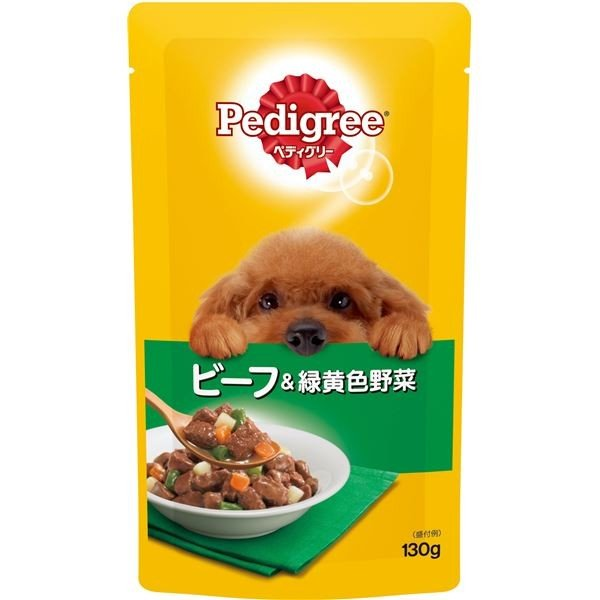 <title>ペディグリー 成犬用 正規品 ビーフ 緑黄色野菜 130g</title>