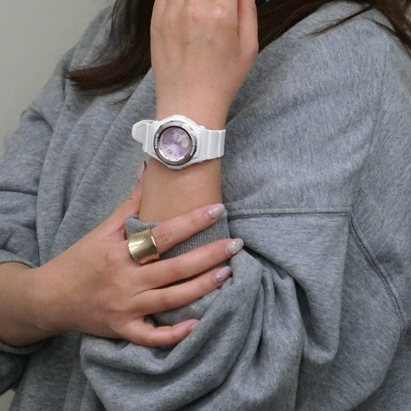 BABY-G ベビージー BGA-1050CD-7BJF 電波ソーラー WISHING CLOVER DIAL ウィッシング・クローバー・ダイアル レディース 女性向け腕時計 ホワイト|tokei-akashiya|03
