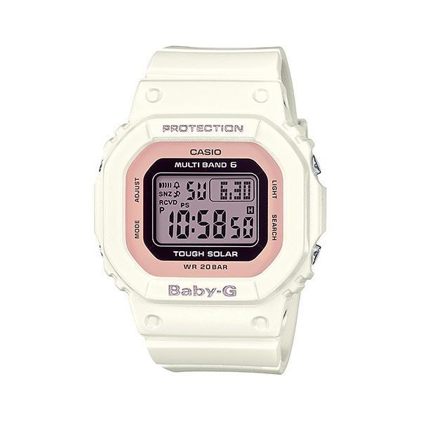 BABY-G ベビージー BGD-5000-7DJF 電波ソーラー スクエアモデル レディース 女性向け腕時計 ホワイト×ピンク|tokei-akashiya