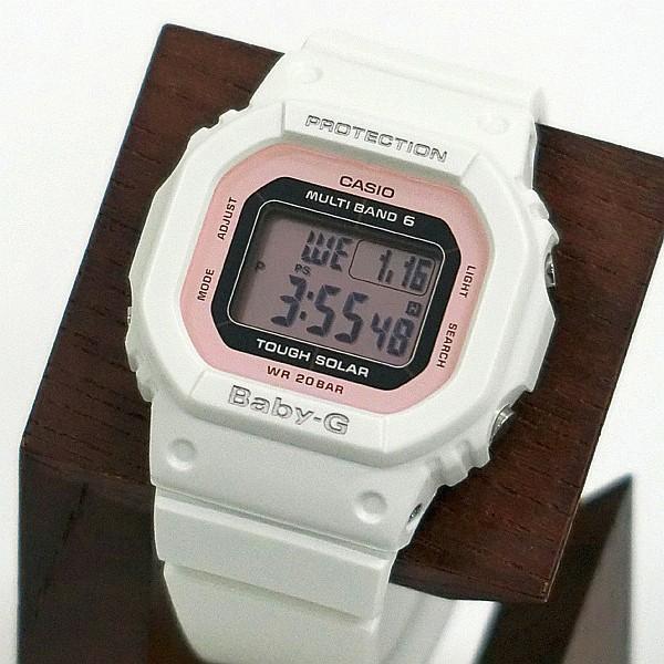 BABY-G ベビージー BGD-5000-7DJF 電波ソーラー スクエアモデル レディース 女性向け腕時計 ホワイト×ピンク|tokei-akashiya|02