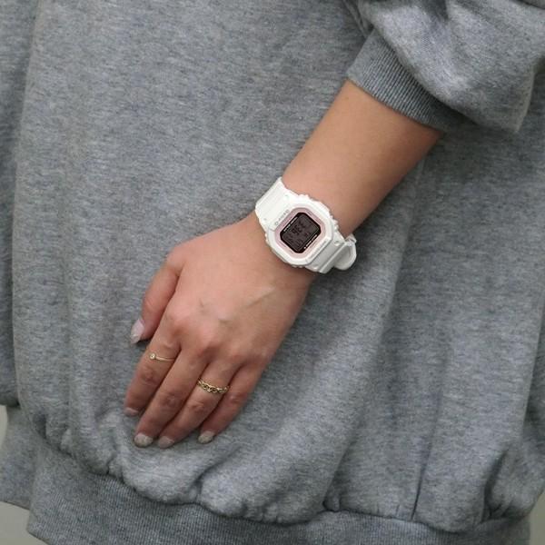 BABY-G ベビージー BGD-5000-7DJF 電波ソーラー スクエアモデル レディース 女性向け腕時計 ホワイト×ピンク|tokei-akashiya|03