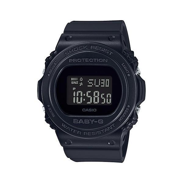 BABY-G ベビージー BGD-570-1JF レトロ・クラシック デジタル表示 レディース 腕時計 オールブラック tokei-akashiya