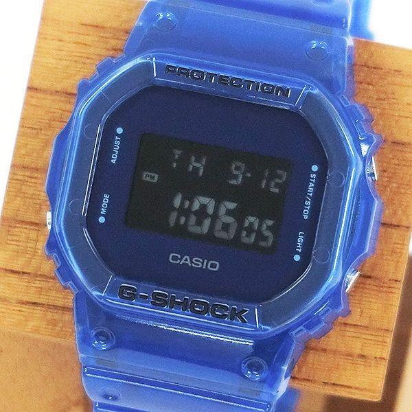 G-SHOCK ジーショック DW-5600SB-2JF スクエアフェイス Color Skeoton Series シースルー素材 ブルー 腕時計 CASIO カシオ|tokei-akashiya|02