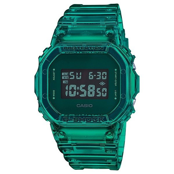 G-SHOCK ジーショック DW-5600SB-3JF スクエアフェイス Color Skeoton Series シースルー素材 グリーン 腕時計 CASIO カシオ tokei-akashiya