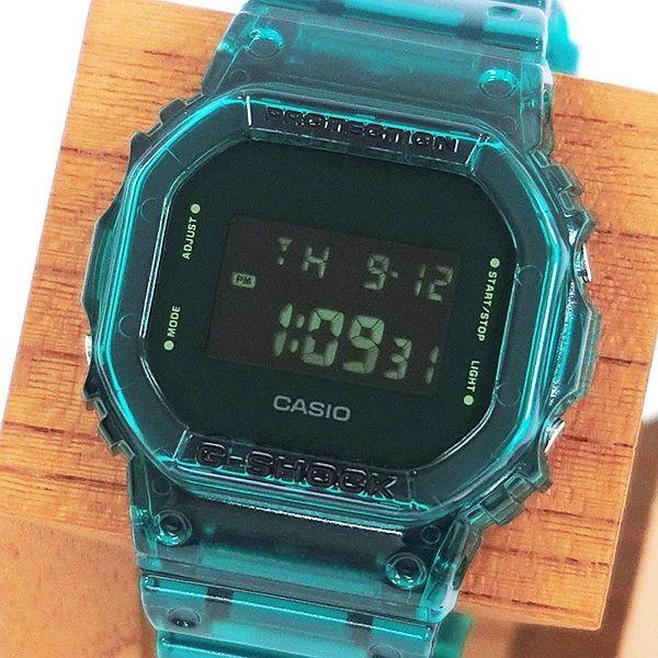 G-SHOCK ジーショック DW-5600SB-3JF スクエアフェイス Color Skeoton Series シースルー素材 グリーン 腕時計 CASIO カシオ tokei-akashiya 02