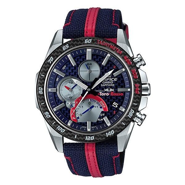 EDIFICE エディフィス EQB-1000TR-2AJR スクーデリア・トロロッソ・リミテッドエディション 第7弾 スマートフォンリンク タフソーラー 腕時計 クロスバンド|tokei-akashiya