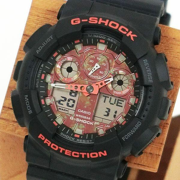 G-SHOCK ジーショック GA-100TAL-1AJR GA-100 Kyo Momiji Color 紅葉 日本製 腕時計 CASIO カシオ|tokei-akashiya|02