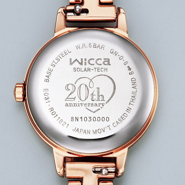 wicca ウィッカ KP3-619-95 有村架純着用 wicca 20th Anniversary 限定モデル ソーラーテック 腕時計 レディース 女性用 替えバンド付き|tokei-akashiya|04