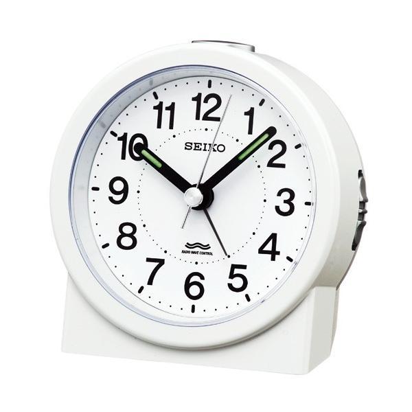 SEIKO セイコークロック KR325W 電波目覚まし時計 スタンダード 電池付き|tokei-akashiya