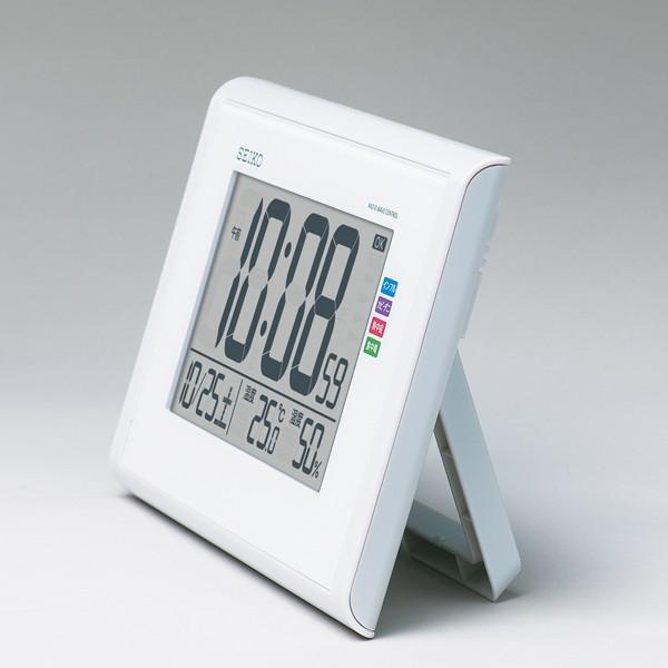 SEIKO セイコークロック SQ439W デジタル電波目覚まし時計 温度計 湿度計 快適環境NAVI 電池付き 掛置兼用|tokei-akashiya|02