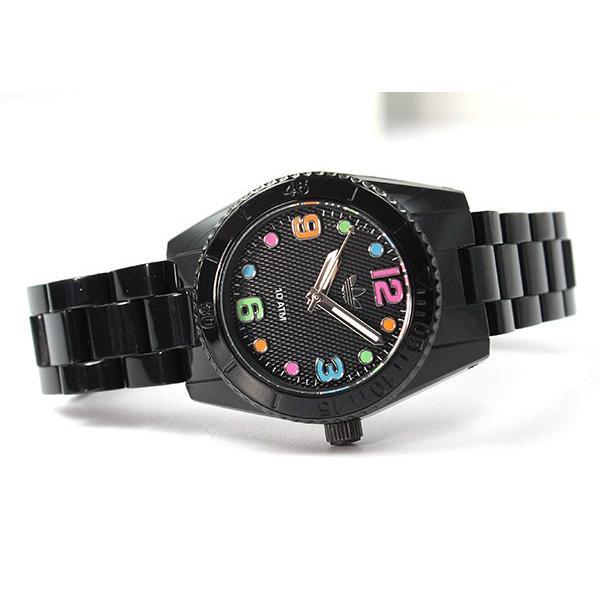 7dce6a3bf2 ... 腕時計 アディダス adidas 腕時計 ADH2943 BRISBANE mini 黒 ブラック ブリスベン 腕時計 防水 レディース キッズ