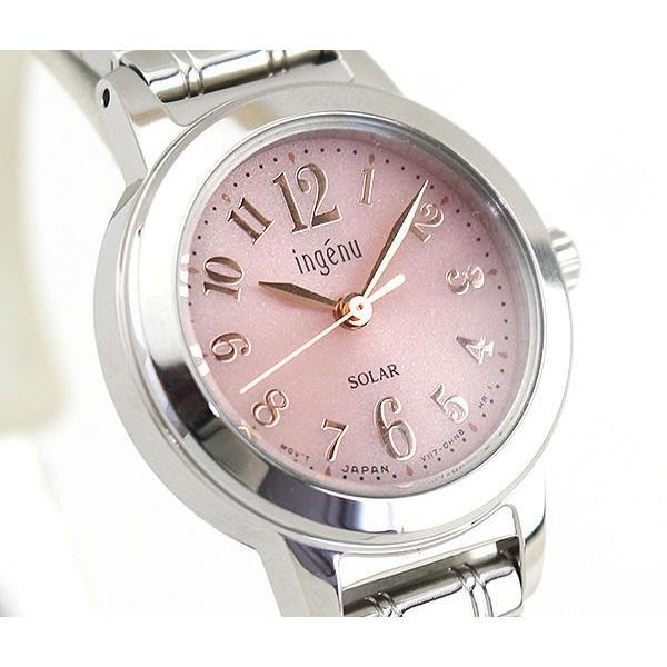 ポイント最大22倍 SEIKO セイコー ALBA アルバ ingenu アンジェーヌ ソーラー AHJD098 国内正規品 レディース 腕時計 ピンク シルバー メタル