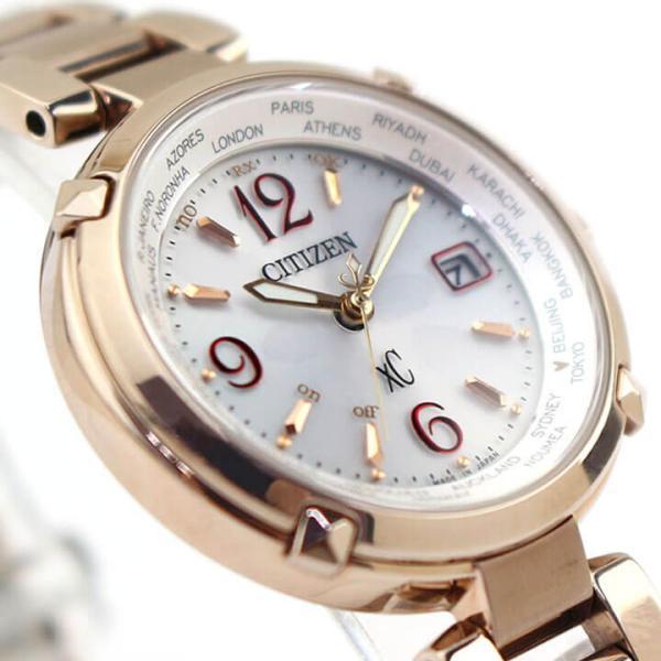 ポーチ付き シチズン クロスシー エコドライブ 電波 サクラピンク ティタニアライン 腕時計 レディース CITIZEN xC EC1047-57A 国内正規品