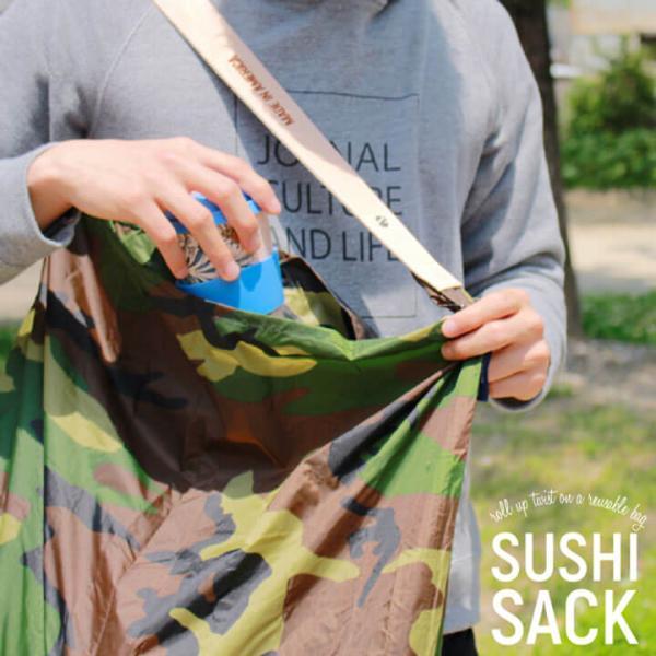 JULY NINE ジュライナイン Sushi Sack スシサック Mサイズ カモ メンズ レディース  ユニセックス ナイロン トートバッグ エコバッグ 折りたたみ